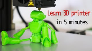 Learn 3d printer in 5 minutes and make creative project.
