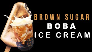 BROWN SUGAR BOBA ICE CREAM BAR! SOLD OUT!! MUST TRY - Snack Therapy