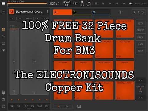 100% Free 32 Piece Drum Bank For Beat Maker 3 From