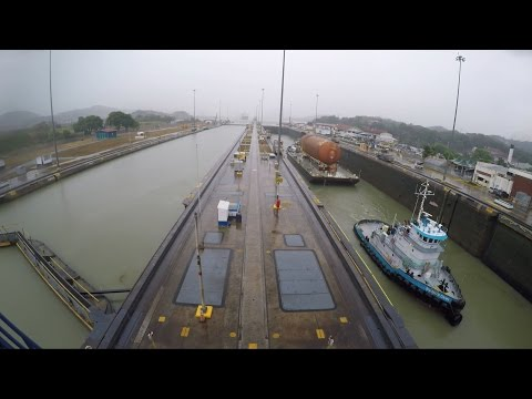 Last unflown space shuttle fuel tank transits Panama Canal