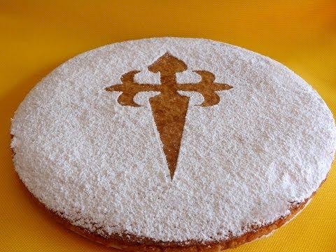 Receta de tarta de Santiago | Tarta de almendras |Tarta de almendras fácil