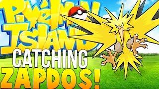 CATCHING ZAPDOS - Minecraft Pixelmon Island - Pokemon Mod