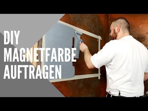 """Wandflächen magnetisieren 🔗 Alpina Magnetfarbe """"Magneto"""" TEST"""