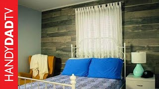 Faux Wood Feature Wall