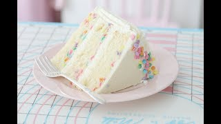 CONFETTI VANILLA CREAM CAKE, HOW TO DO VIDEO