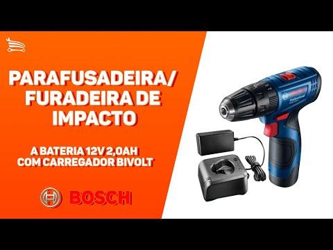 Parafusadeira/Furadeira de Impacto a Bateria 12V com Carregador Bivolt - Video