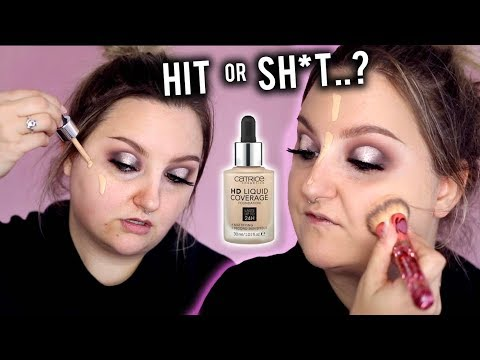 HIT or SH*T..? CATRICE HD LIQUID COVERAGE FOUNDATION REVIEW + WEAR TEST