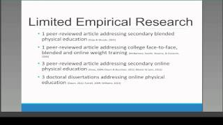 MVLRI Webinar: More Research Required - Blended and Online Physical Education
