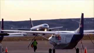 FedEx 757-200 Sunset Landing @ C/NCIA in Casper, Wyoming