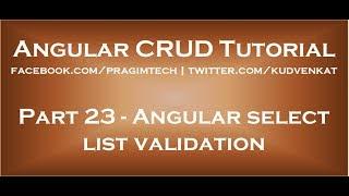 Angular select list validation