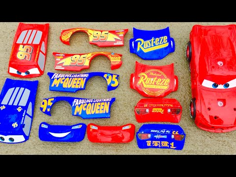 Cars 3 Lightning mcqueen cars 3 haulers mack recycled batteries Gil jackson storm disney pixar cars