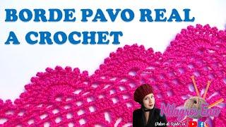 Borde En Punto Arañitas Tejido A Crochet Para Aplicar En Blusas, Boleros, Capas Y Mantitas.