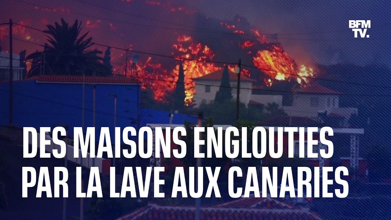 Les images de maisons englouties par la lave aux Canaries, après l'éruption du Cumbre Vieja