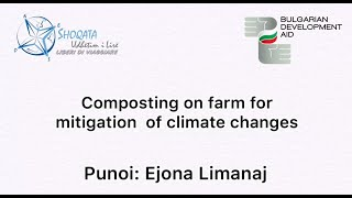 Udhetim i Lire Composting on farm for mitigation of climate changes 2020 Biodiversiteti, E.Limanaj