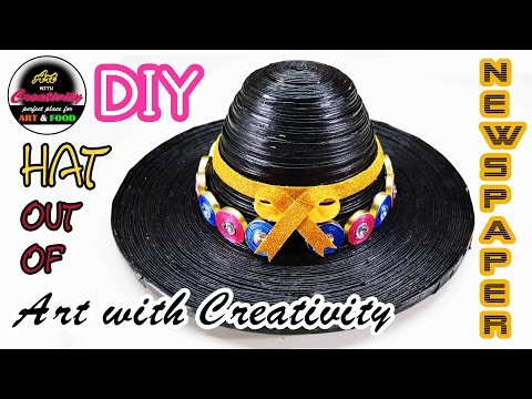 Newspaper Hat | DIY | Art with Creativity 133