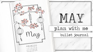 PLAN WITH ME | Bullet Journal Monthly Setup - May 2017 + Printables