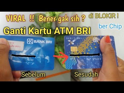 Ganti Kartu ATM BRI terbaru Ber-chip | Begini Caranya