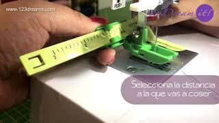Cómo usar el Prensatela para quilting, costuras en paralelo Clover-9586