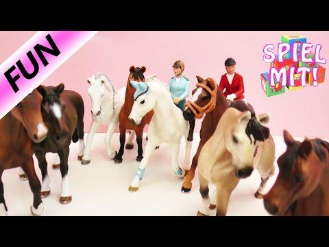 Das große Osterturnier - Schleich Reiterinnen, Pferde und Anhänger