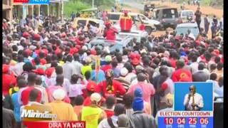 Mirindimo: Kampeni zaendelea kutanda huku siku ya uchaguzi ukikaribia [28/07/2017]