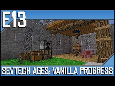 Sevtech Ages-Vanilla Progress-Ep13-Modded Minecraft-Dung Pipe, Stone Anvil, and Aqueducts