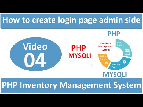 how to create login page admin side in php ims