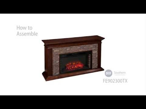 FE9023: Canyon Heights Simulated Stone Electric Fireplace Assembly Video