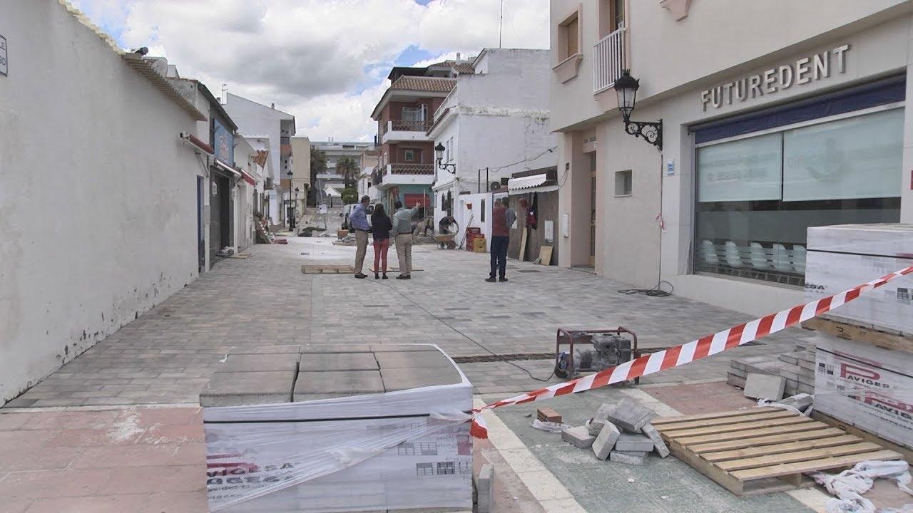 Trabajos en las calles de los pintores