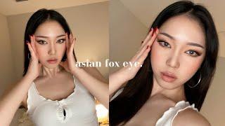 Im SHOOK 🦊 Fox Eyes Makeup On An Asian (feat. Tik Tok Makeup Hacks)