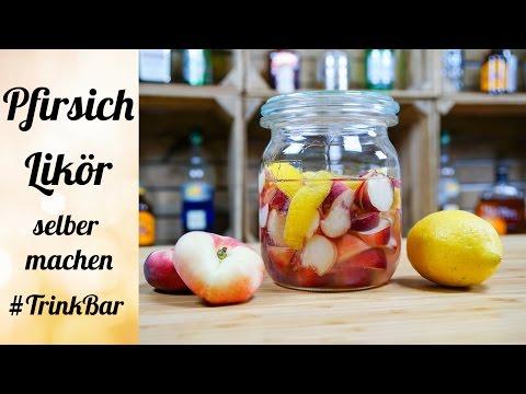 Pfirsich Likör selber machen - Cocktail - Rezept - TrinkBar