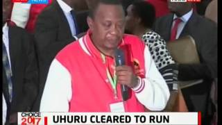 President Uhuru Kenyatta's speech after getting clearance from IEBC