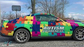 Autism Awareness Vinyl Wrap