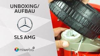 Wir PACKEN Das Kinder Elektroauto Mercedes SLS AMG AUS! 🚗⚡| Unboxing - Deutsch