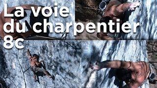 La voie du charpentier 8c Cruseille Haute-Savoie Fred Rouhling escalade libre