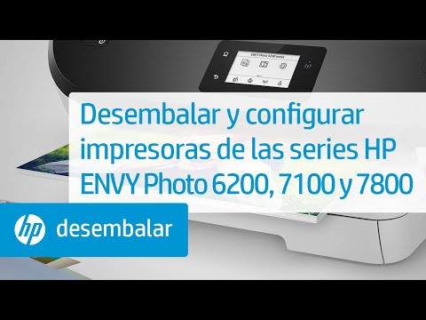 Desembalar y configurar impresoras de las series HP ENVY Photo 6200, 7100 y 7800