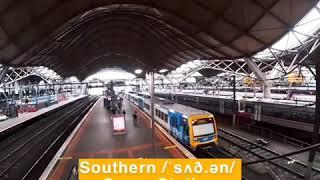墨尔本southern cross station 南十字星火车站英文怎么读?