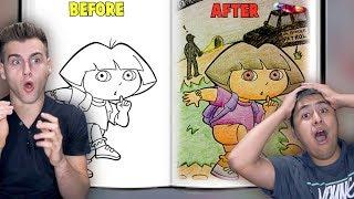 When Adults Color Children's Books!