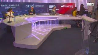 Pablo Iglesias abandona el debat de la 'SER' pels atacs de la candidata de VOX