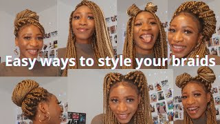 How to style your braids, 16 ways #braids #style #hairstyle