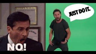 Shia Labeouf Vs Steve Carell - JUST DO IT !!! Vs NO GOD PLEASE NOOOO !!!