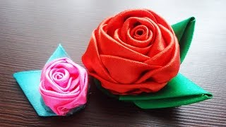 Розы из атласных лент - Розы из атласных лент своими руками