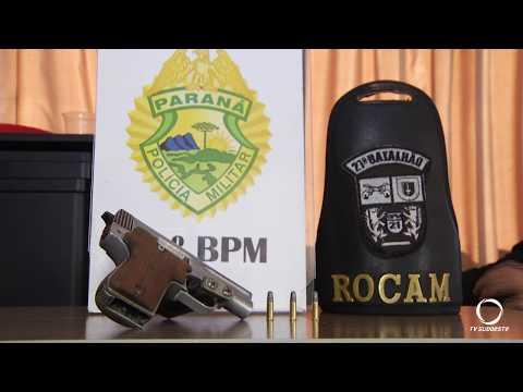 Homem é preso com pistola em Francisco Beltrão