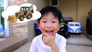 Power Wheels Video for Kids Car Toy Pretend Play with Papa Hide and Seek 뽀로로 짜장면 타요버스 숨바꼭질 자동차장난감 놀이