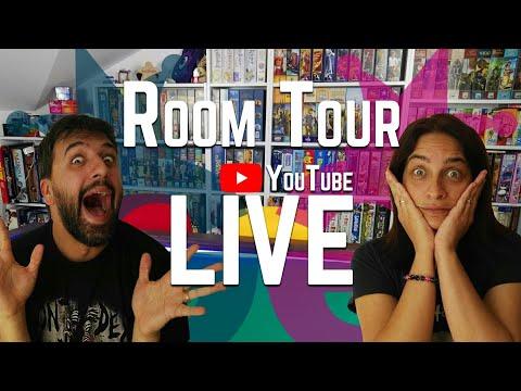 Room Tour LIVE - La nostra collezione di giochi da tavolo e il tavolo da gioco!