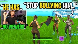 I BULLIED a Twitch streamer with 0 VIEWERS to see if anyone would DEFEND him... (emotional)