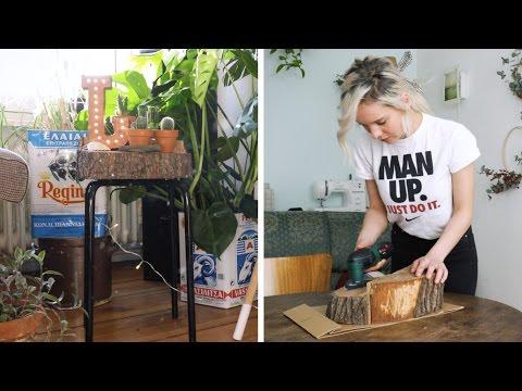 Uriger Baumscheiben Hocker - IKEA Hack trifft Natur