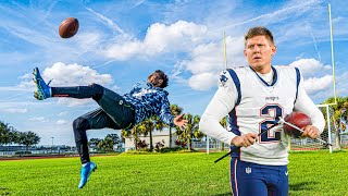 DEAR PATRIOTS KICKER.. I'M CALLING YOU OUT! (FIELD GOAL CHALLENGE)