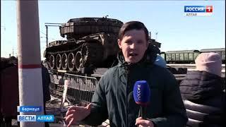 В Барнаул прибыли 20 вагонов трофейного оружия сирийских боевиков