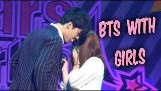 BTS with Girls - Cute Moments