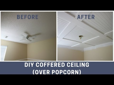 How To Cover A Popcorn Ceiling With A DIY Coffered Ceiling Mp3